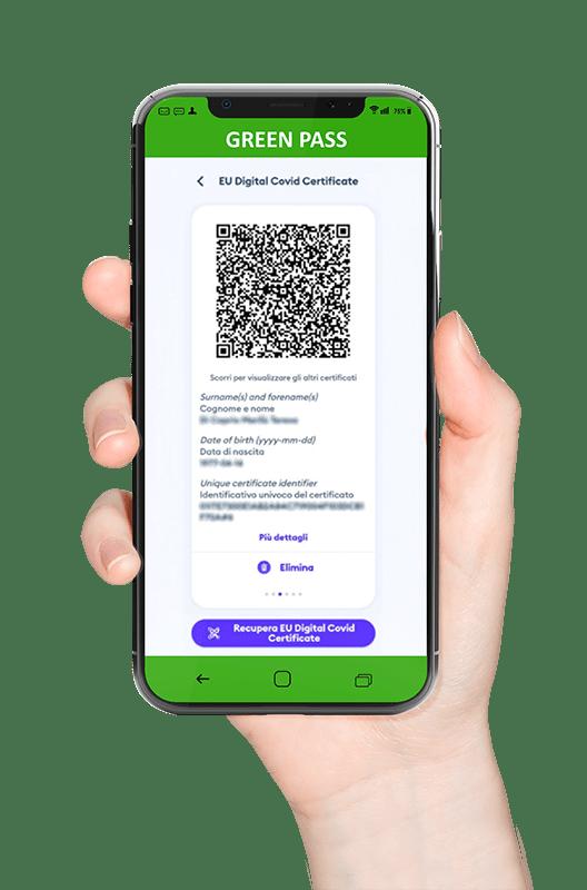 La reception virtuale con green pass check